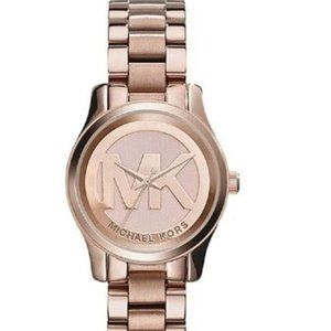 Michael Kors Women's Mini Runway Rose Gold Watch